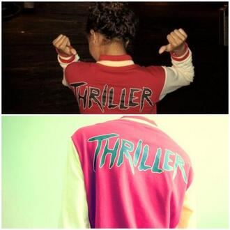 jacket thriller this is it red white michael jackson