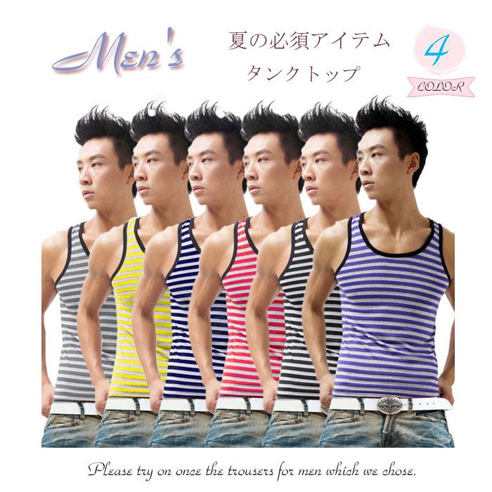 Mens tops/tank tops/inner/inner / rare / motegi man fashionable taste sexy and tast cool/sexy / comfort / smooth/t shirt / response mka79394