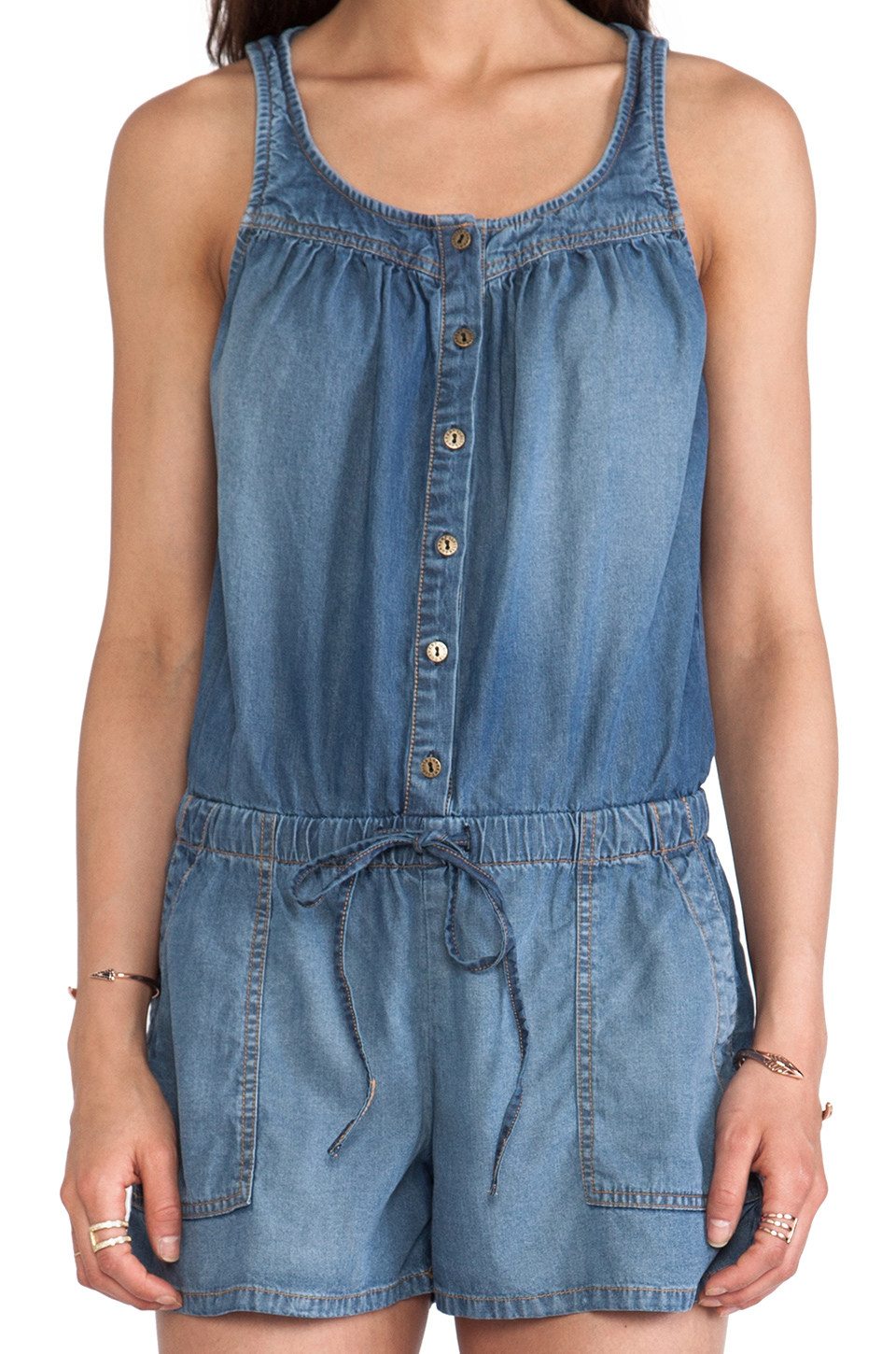 Current/Elliott The Ruby Romper in Stockyard | REVOLVE