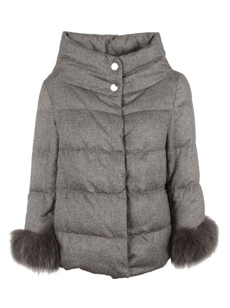 Herno jacket down jacket grey