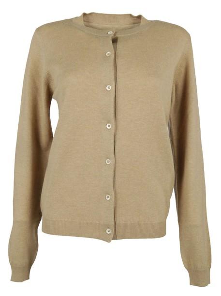 MAISON MARGIELA cardigan cardigan cropped camel sweater
