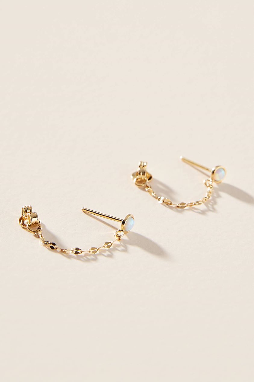 Juliet Drop Earrings by Anthropologie in Mint