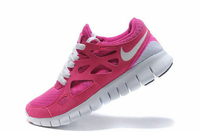 nike free run 2 womens bright pink white nike shoes 2013. Black Bedroom Furniture Sets. Home Design Ideas