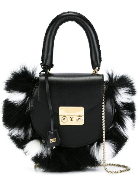 Salar - chain strap mini tote - women - Calf Leather - One Size, Black, Calf Leather