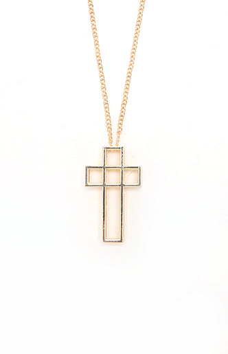 With love from ca 3d cross necklace at pacsun.com