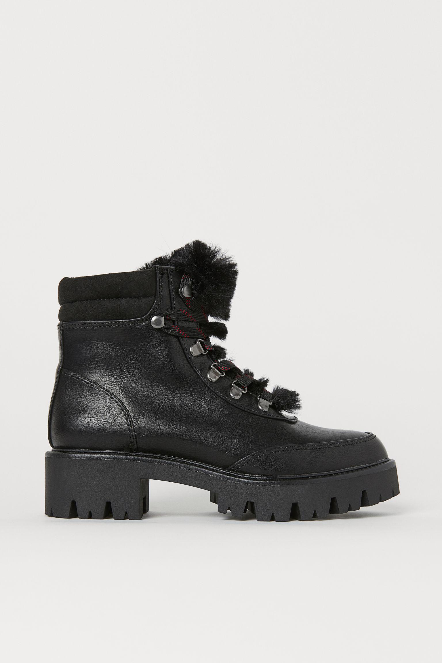 Pile-lined boots - Black - Ladies | H&M GB