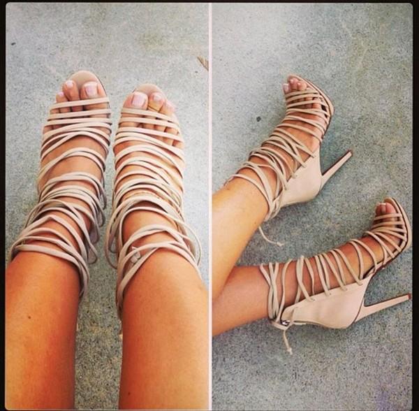 shoes nude heels high heels nude high heels nude sandals sandals beige shoes gladiators strappy heels same colour cream high heels dress