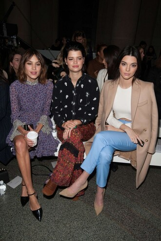 top dress fashion week 2015 kendall jenner alexa chung