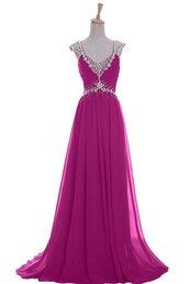 dress,fuchsia prom dress,v neck prom dress,2015 prom dress,long prom dress,2015 evening dresses,evening dress,bridesmaid,homecoming dress