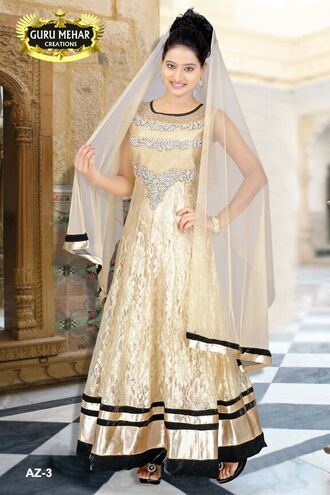 dress golden sequins stone work indian indian dress india love designer indian designer net see through ethnic guru mehar