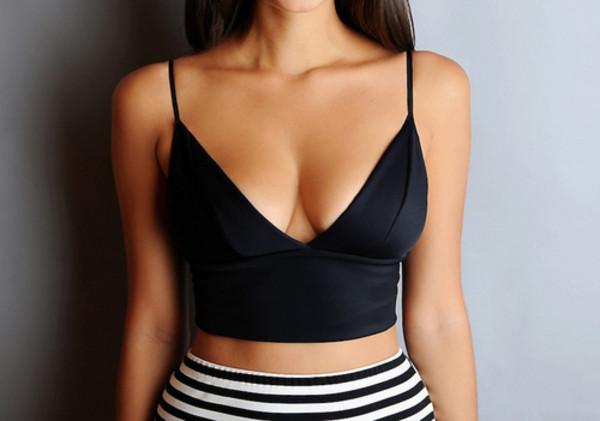 tank top crop tops black clothes luxury alexander wang bra crop cropped summer shirt black crop top short top crop tops top fashion style bralette black dress