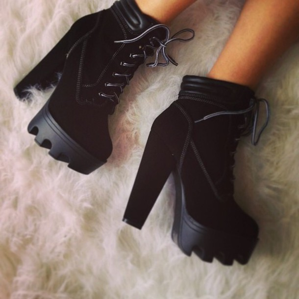 shoes booties chic winter boots booties black boots black boots shoes winter black black boots hot high heels thick heel heels fashion winter swag winter outfits attitude fierce high heels boots high heel booties high black boots high black heels