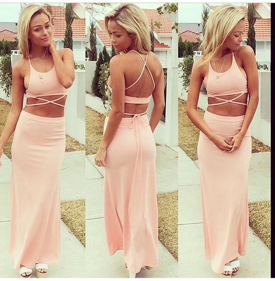 dress style pink dress fashion