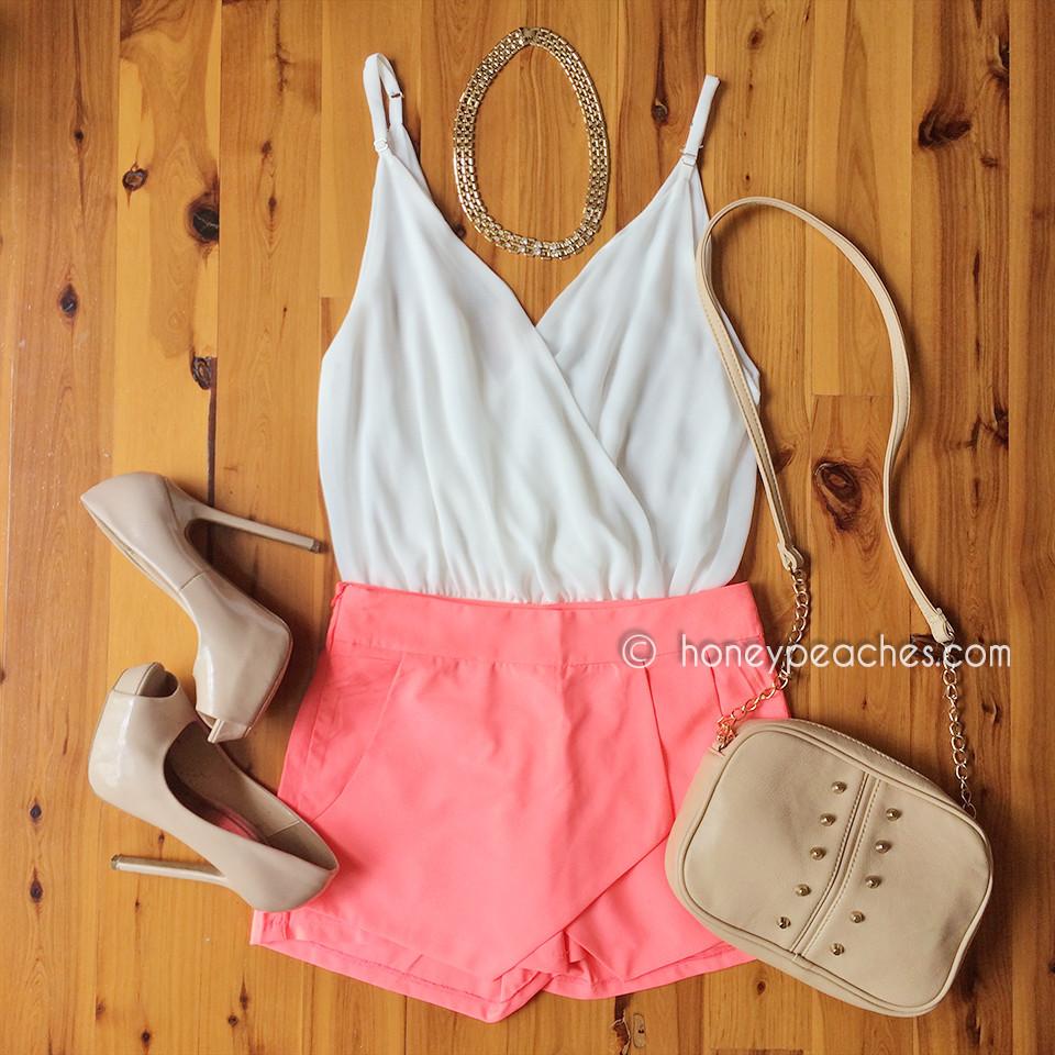 Neon coral – honey peaches