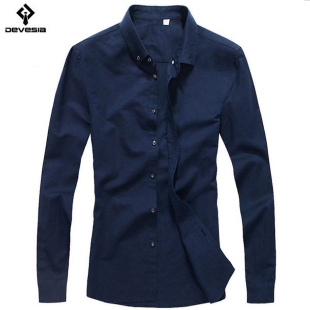 Shirt: men shirts, navy blue shirt, mens shirt, long sleeve shirts ...