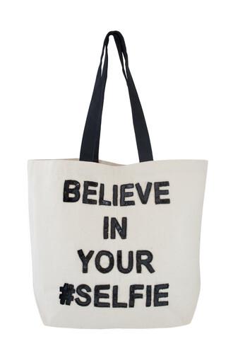 bag selfie sequins tote bag funny quote designer bag
