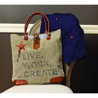 bag vintage casual canvas bag tote bag