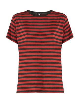 t-shirt shirt cotton t-shirt boyfriend fit cotton red top
