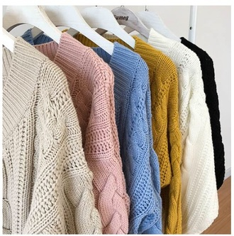 sweater girly sweatshirt jumper knitwear knit knitted sweater