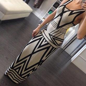 dress madame julietta maxi dress jewels design black tan white dress black dress pants tribal dress pattern