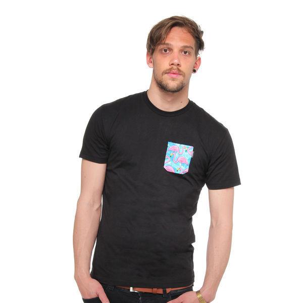 Akomplice Flamingo Pocket T Shirt Black | eBay