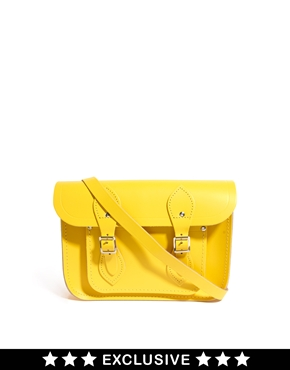 "Cambridge satchel company exclusive to asos canary yellow 11"" satchel at asos"
