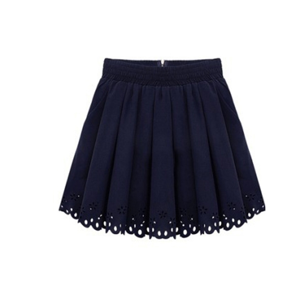 Sweet Lap Cute Summer Skirts Black White