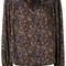 Isabel marant - floral print blouse - women - silk/cotton - 38, black, silk/cotton