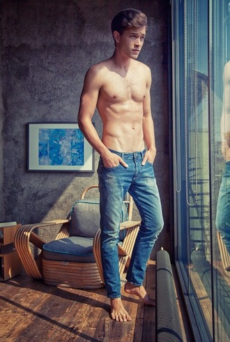 jeans blue jeans slim fit