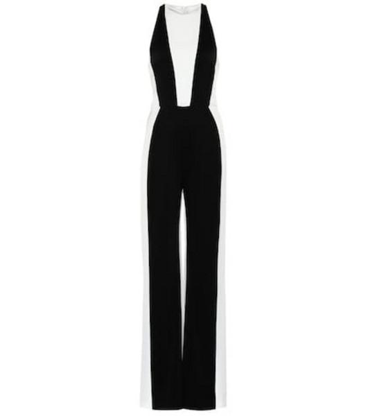 Galvan Marlene satin jumpsuit in black
