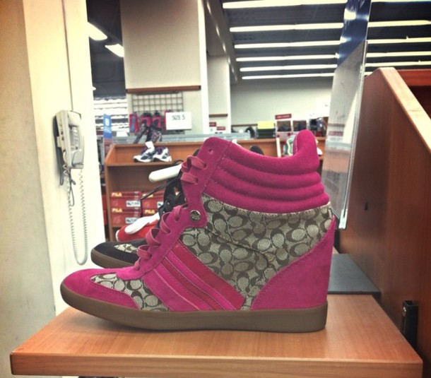 a197fb47154 shoes coach sneakers wedge sneakers pink stripes
