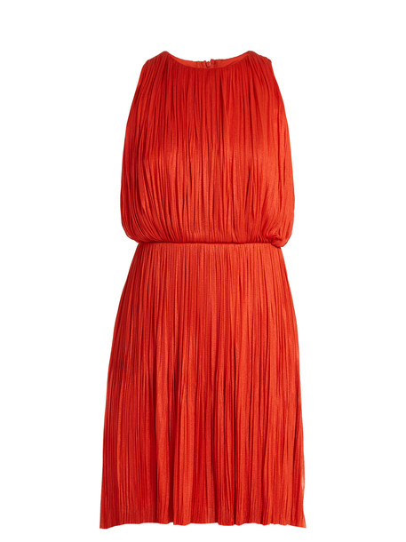 MARIA LUCIA HOHAN Malie silk-tulle dress in red