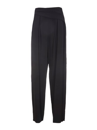 pleated black pants
