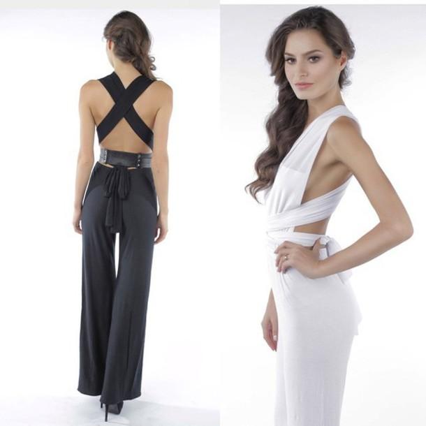 2740cbd79d8c romper melrose girl romper jumpsuit white romper black romper black jumpsuit  white jumpsuit open back