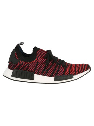 sneakers black black and red red shoes