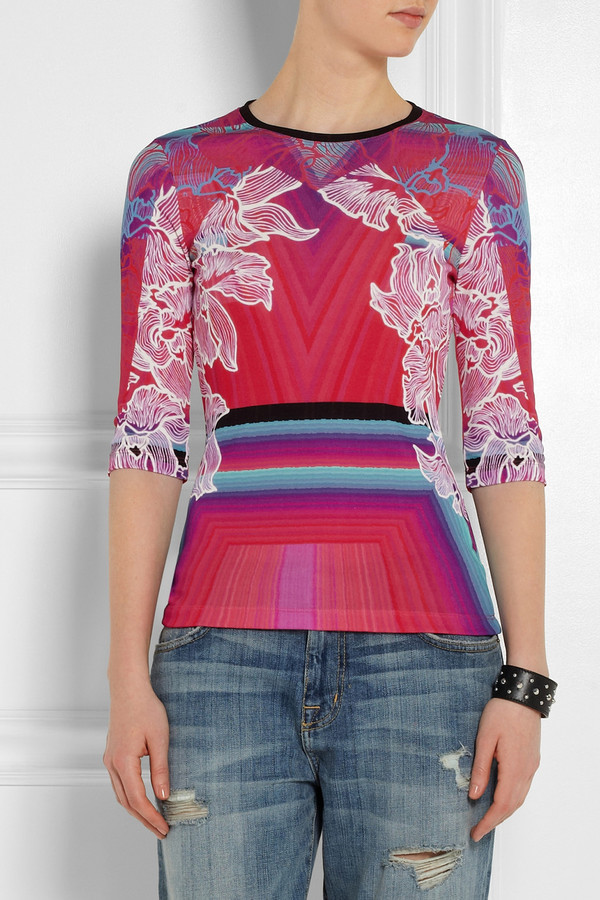 top peter pilotto j printed jersey top