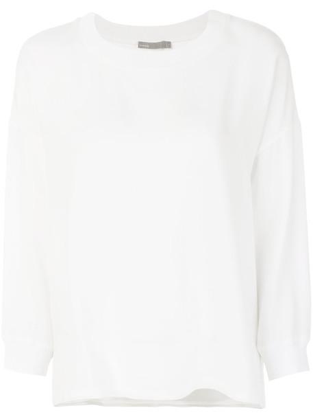 Vince blouse women white silk top