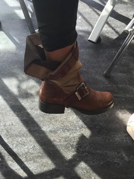khaki camel boots