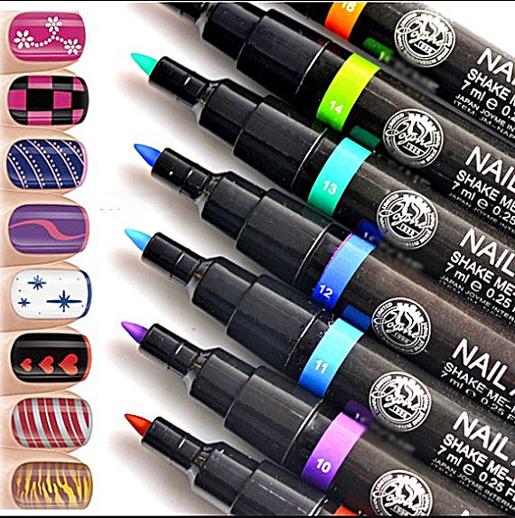 Nail Art Pen Painting Polish Dot Drawing UV Gel Design Manicure ...
