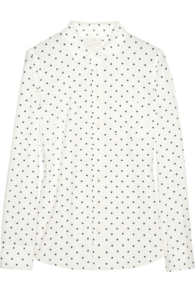 J.Crew | New Boy polka-dot cotton shirt | NET-A-PORTER.COM