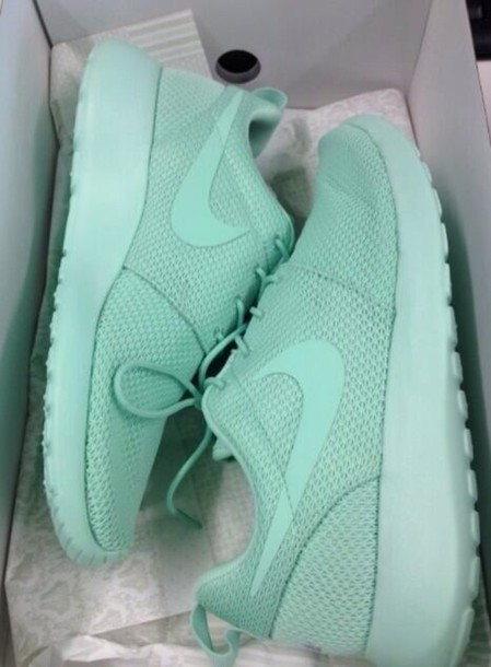shoes nike roshes tiffany mint running shoes