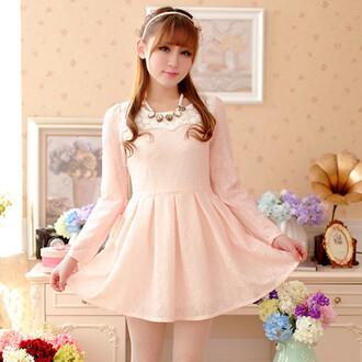 dress pink dress light pink skater dress