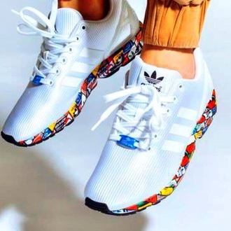 shoes adidas multicolor multicolor sneakers