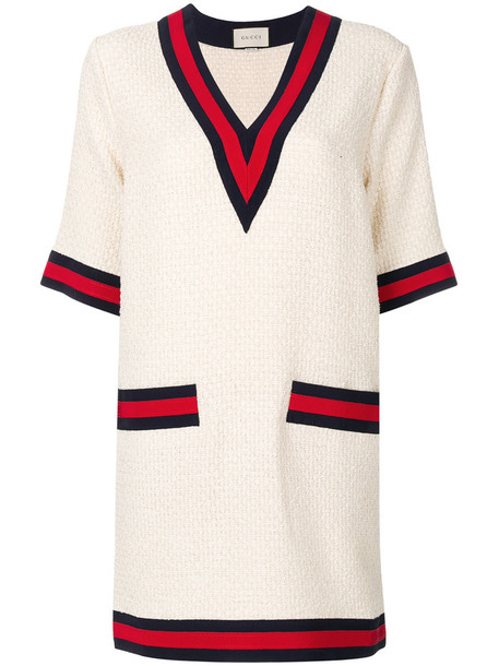 gucci dress women white cotton