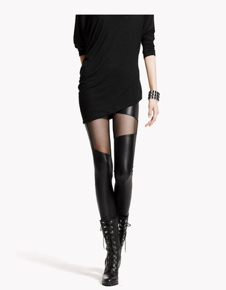 cut-out tights leggings