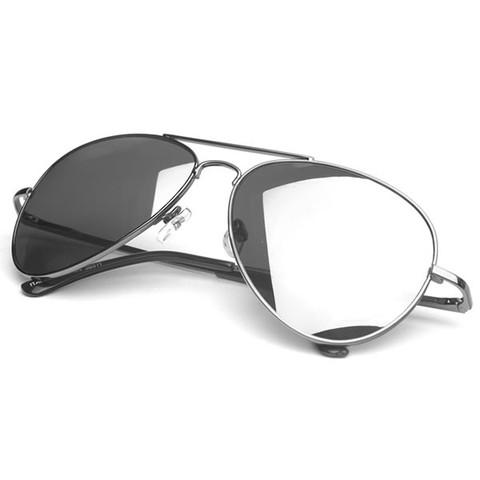 Premium Military Classic Mirrored Lens Metal Aviator Aviators Sunglass                           | zeroUV
