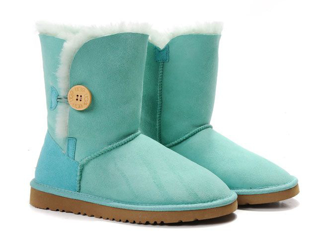 Buy Ugg Bailey Button Boots 5803 Womens Teal Blue - €75.22