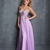 Beautiful Lilac Sweetheart Ruched Bodice Beadings Chiffon Prom Dress PD11393