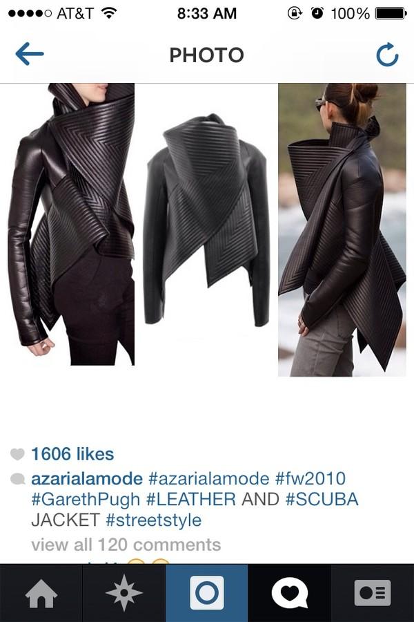 coat leather jacket