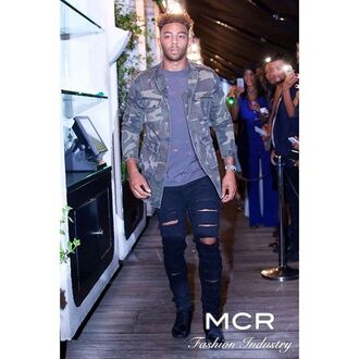 jacket maniere de voir camouflage ripped coat